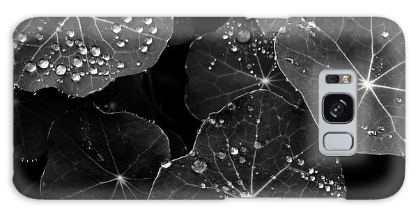 Raindrops On Nasturtium Galaxy Case by Gayle Swigart