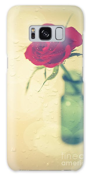Raindrops On Roses . . . Galaxy Case