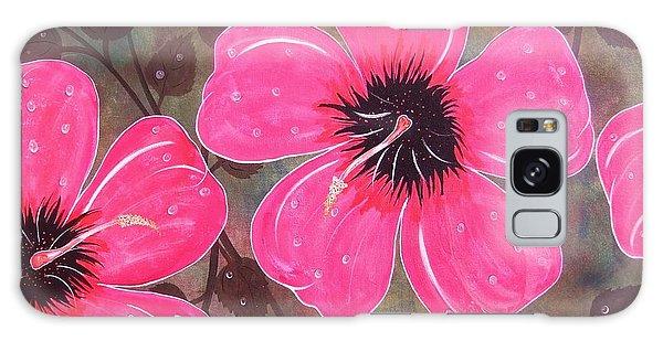 Rainey Day Pink Hibiscus Galaxy Case