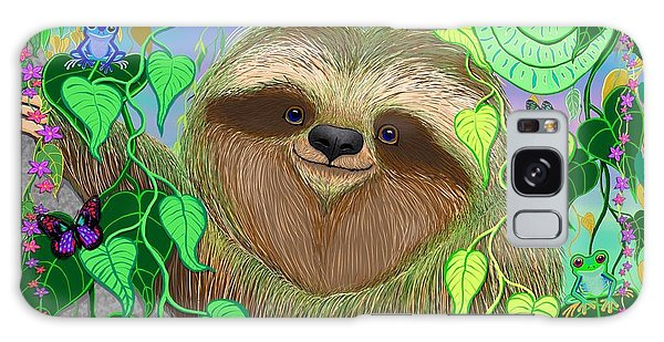 Rainforest Sloth Galaxy Case by Nick Gustafson