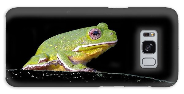 Rainfrog Portrait Galaxy Case by Myrna Bradshaw