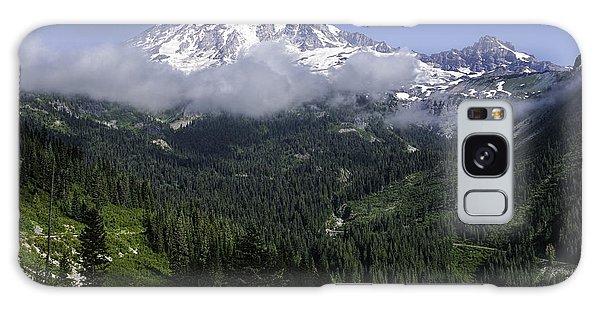 Rainier And Clouds Galaxy Case