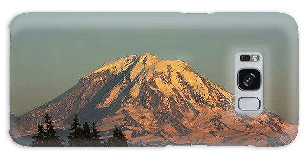 Rainier At Dusk Galaxy Case by Gayle Swigart