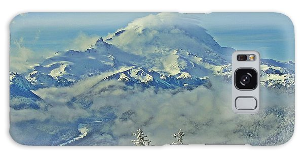 Rainier Cloaked In Winter Galaxy Case by Jeff Cook