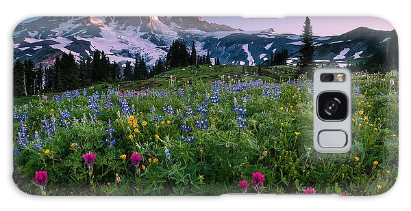 Rainier Flowering Meadow Galaxy Case