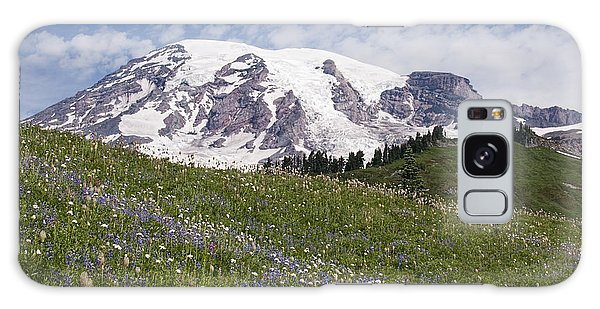 Rainier's Wildflowers Galaxy Case by Sharon Seaward