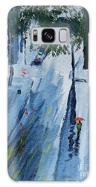 Raining Again Galaxy Case by Pamela  Meredith