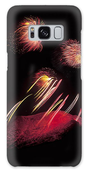 Raining Fire At Midnight Above 14000 Feet Galaxy Case by Bijan Pirnia