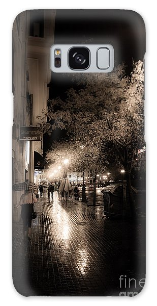 Rainy City Streets  Galaxy Case