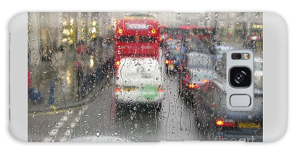 Rainy Day London Traffic Galaxy Case