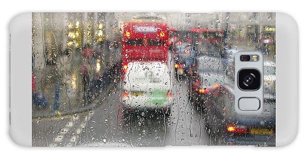 Rainy Day London Traffic Galaxy Case by Ann Horn