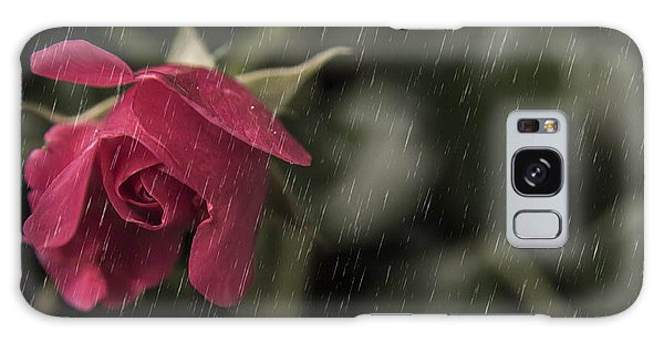 Rainy Days And Roses Galaxy Case by Billie-Jo Miller