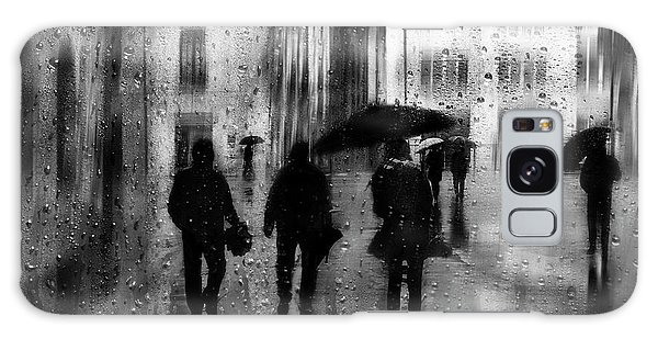 People Galaxy Case - Rainy Days by Fran Osuna