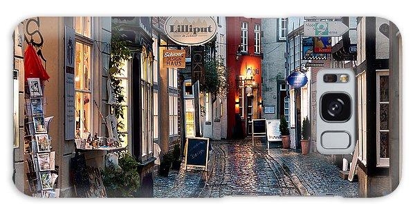 Rainy Evening In Old Town Galaxy Case by Ari Salmela