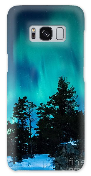 Rainy Lake Lights Galaxy Case