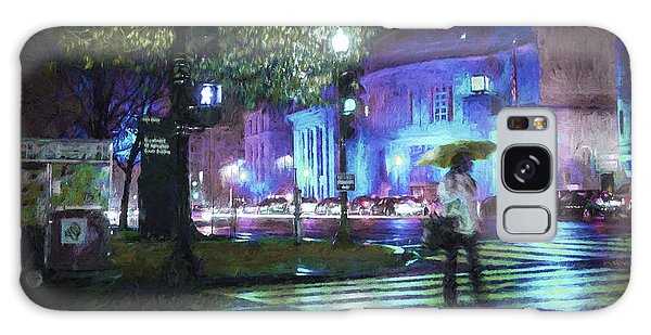 Rainy Night Blues Galaxy Case by Terry Rowe