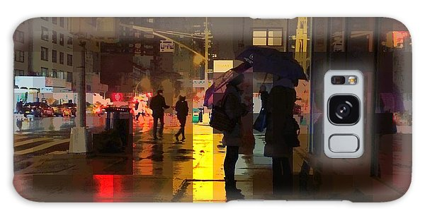 Rainy Night New York Galaxy Case by Miriam Danar
