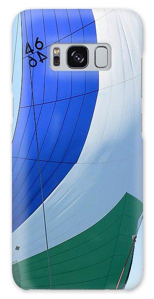 Raising The Blue And Green Sail Galaxy Case