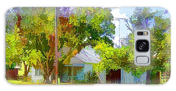 Ranch House Painting Galaxy Case by Linda Phelps