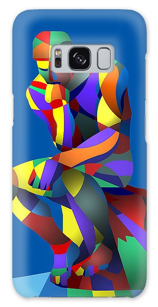 Randy's Rodin Blue Galaxy Case by Randall Henrie