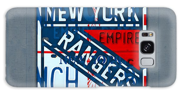 Six Galaxy Case - Rangers Original Six Hockey Team Retro Logo Vintage Recycled New York License Plate Art by Design Turnpike