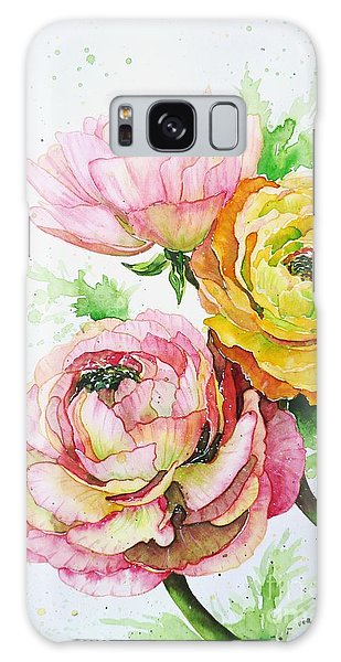 Ranunculus Flowers Galaxy Case by Zaira Dzhaubaeva