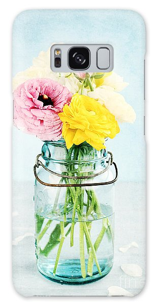 Ranunculus In A Mason Jar Galaxy Case