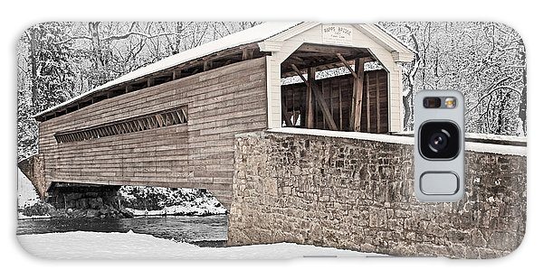 Rapps Bridge In Winter Galaxy Case by Michael Porchik
