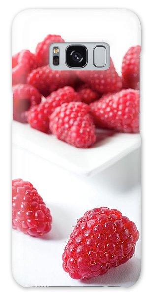Raspberries Galaxy Case by Aberration Films Ltd