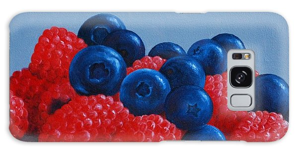 Raspberries And Blueberries Galaxy Case