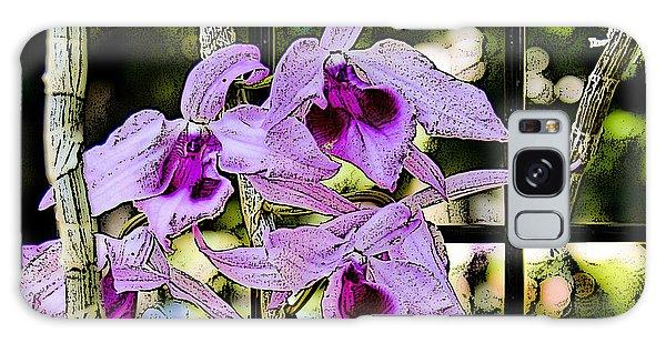 Raspberry Orchids Galaxy Case