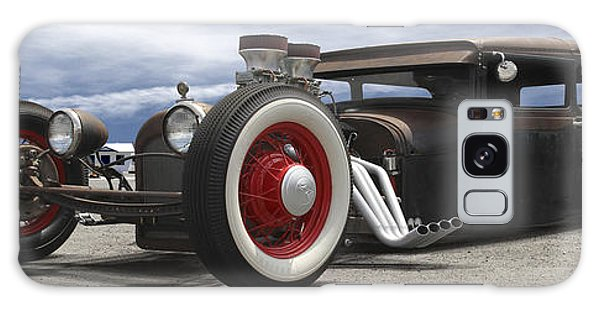 66 Galaxy Case - Rat Rod On Route 66 Panoramic by Mike McGlothlen