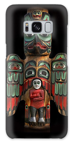 Raven And Saxman Totem Galaxy Case by Gary Warnimont