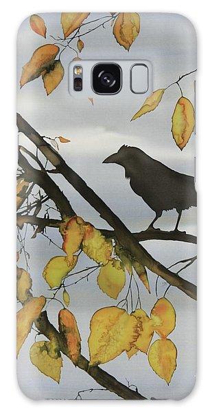 Raven In Birch Galaxy Case