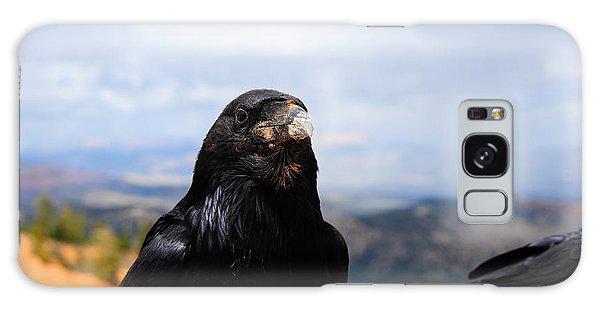 Raven Portrait Galaxy Case