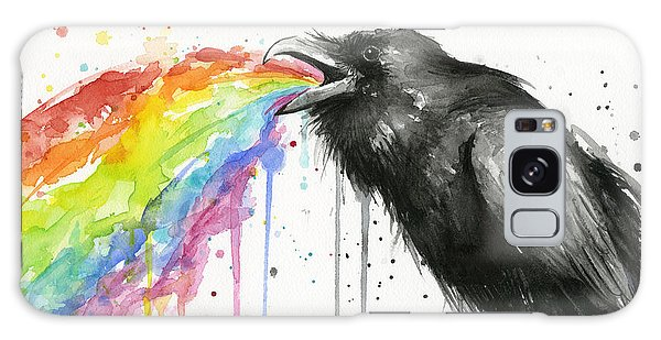 Bird Galaxy Case - Raven Tastes The Rainbow by Olga Shvartsur