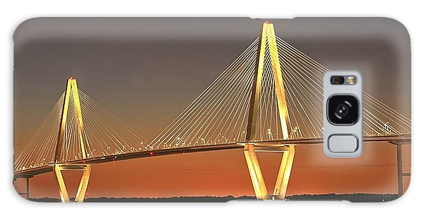 Ravenel Bridge At Dusk Galaxy Case