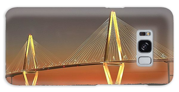 Ravenel Bridge At Dusk Galaxy Case by Adam Jewell