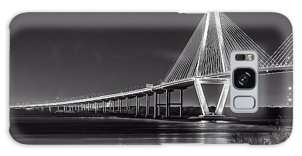 Ravenel Bridge At Night Galaxy Case