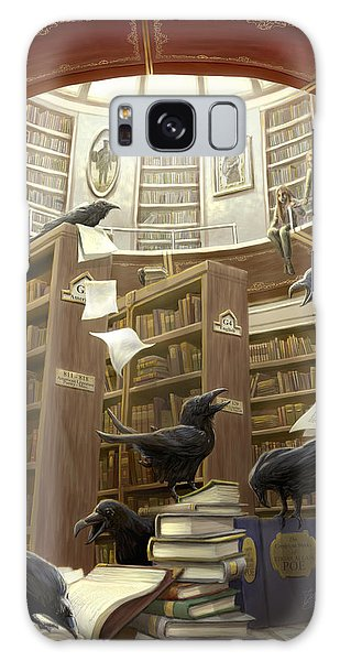 Magician Galaxy S8 Case - Ravens In The Library by Rob Carlos