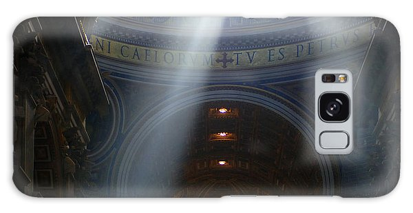 Rays Of Hope St. Peter's Basillica Italy  Galaxy Case by Bob Christopher