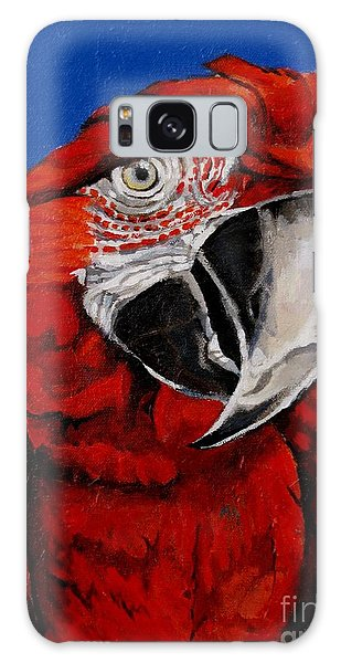 Razzy Red - Bird- Macaw Galaxy Case