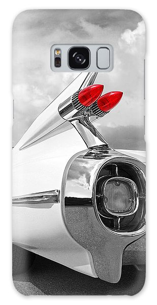 Reach For The Skies - 1959 Cadillac Tail Fins Black And White Galaxy Case by Gill Billington