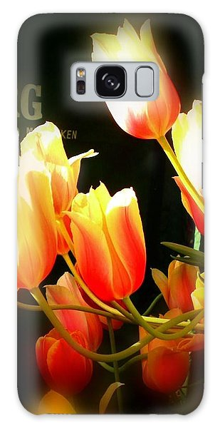 Reaching For The Sun Galaxy Case by Peggy Stokes