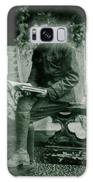 Reader In Dijon Galaxy Case by Christy Usilton