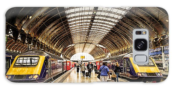 Ready For Departure - Trains Ready To Depart From Under The Grand Roof Of London Paddington Station Galaxy Case