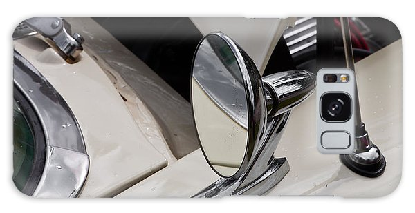 Rear View Wing Mirror Chrome Galaxy Case by Mick Flynn