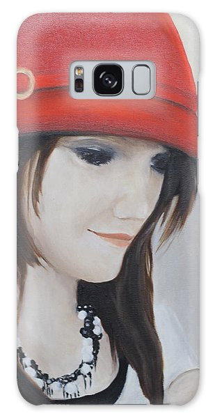 Rebecca's Red Hat Galaxy Case by Patricia Olson