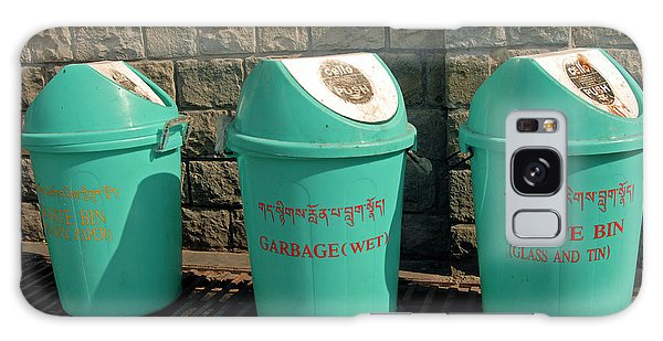 Rubbish Bin Galaxy Case - Recycling Bins In A Street by Simon Fraser/science Photo Library
