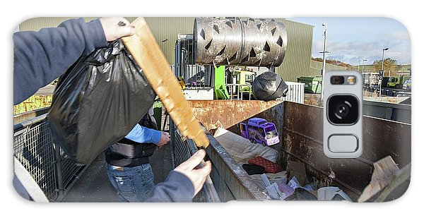 Rubbish Bin Galaxy Case - Recycling Centre by Lewis Houghton/science Photo Library